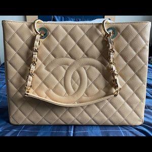 Chanel Grand Shopper Beige Medium | Mint Condition